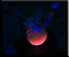 Detalle das nanopart�culas fluorescentes