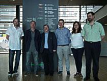 De esquerda a dereita, Samuel Seoane, Román Pérez, Antonio Mouriño, Esteban Castelao, Efigenia Arias e Miguel Maestro